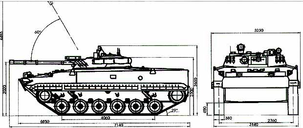схема БМП-3
